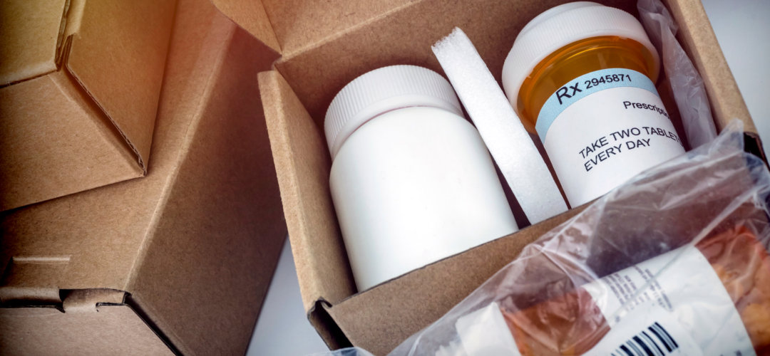 Several boxes with medicines.
